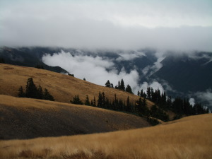 View from Hurricane Ridge, with clouds