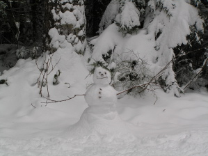 Lake Angeles Trail Snow Man