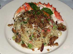 King Crab Legs w/Angle Hair Pasta