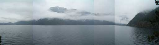 Lake Crescent Cloudy Panorama