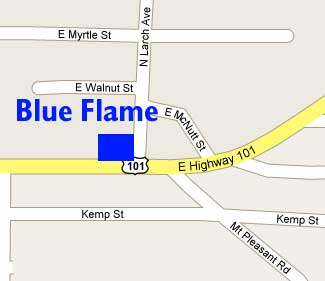 Blue Flame BBQ Map